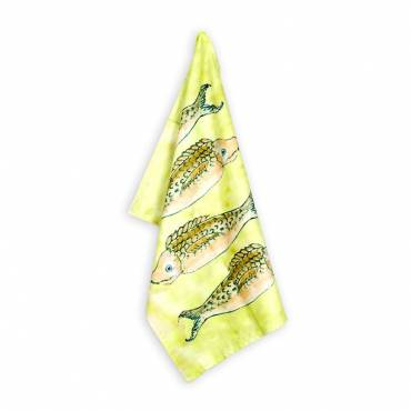 Kitchen Cloth Yellow Fishes